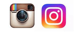 Instagram logo through its brand logo redesign