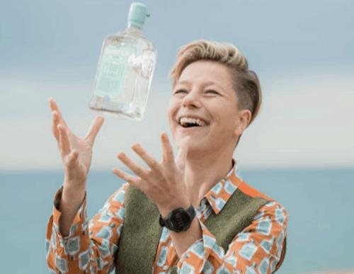 Kathy Caton with her Brighton Gin