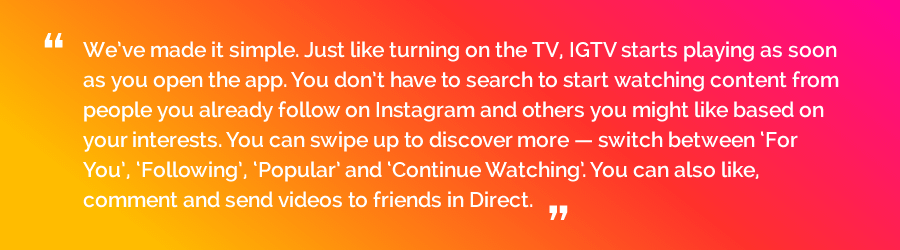 How IGTV works - Instagram's TV app