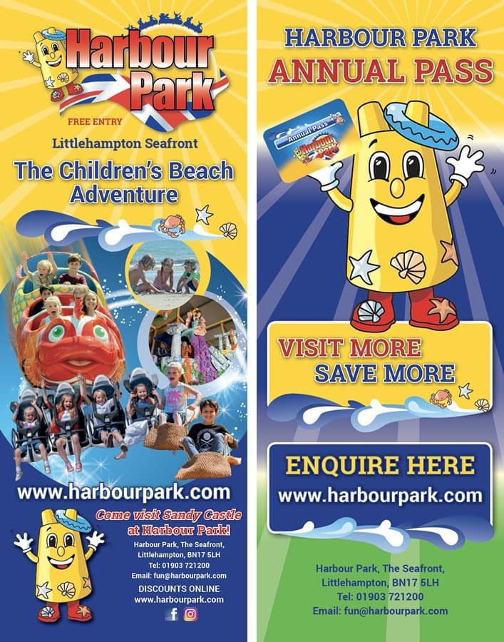 Roller banner design for Harbour Park