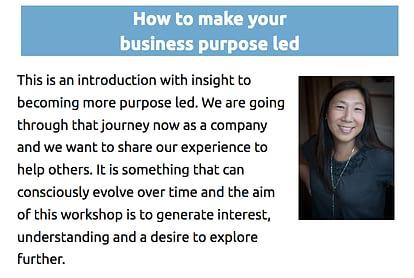 Meg Fenn's talk at Worthing Summit