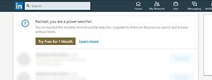 search limits on LinkedIn