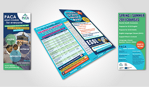 3 fold flyer design PACA Adult Learning