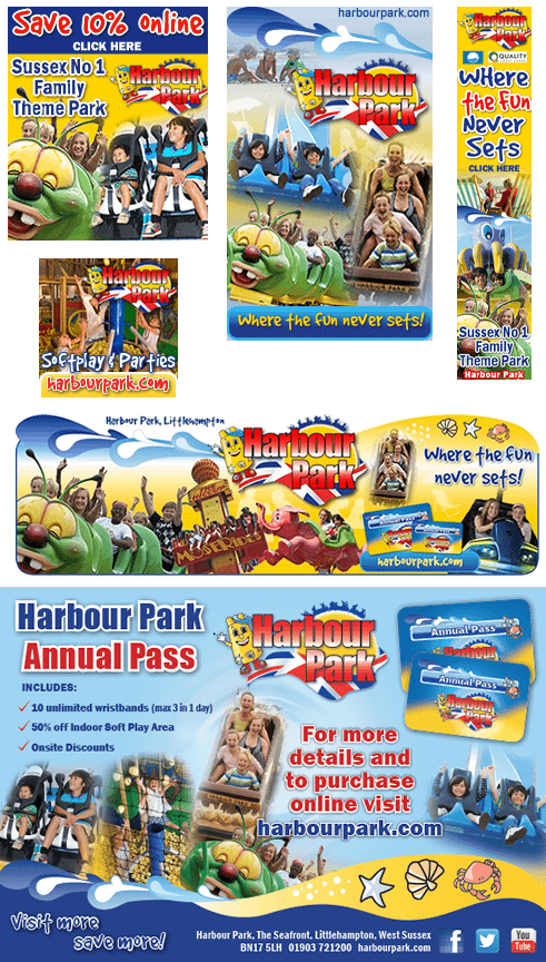 Advert design for Harbour Park