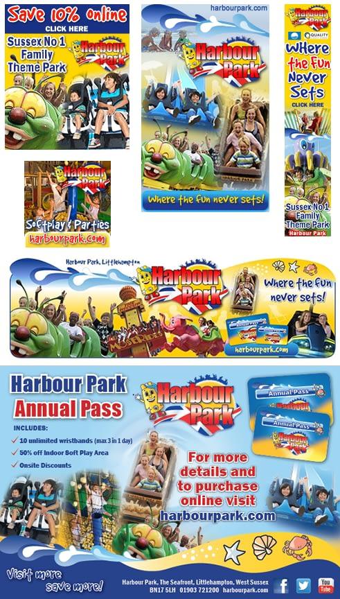 Advert design for Harbour Park
