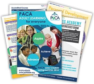 Brochure design PACA Adult Learning