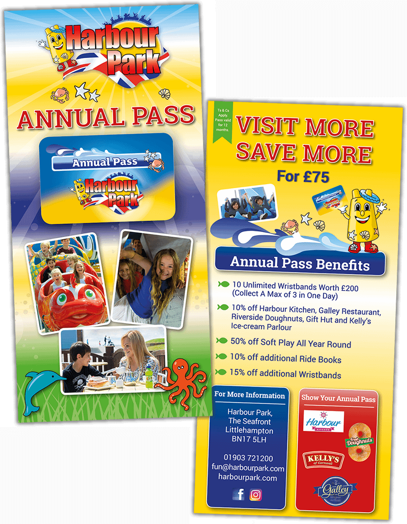 Annual pass design for Harbour Park
