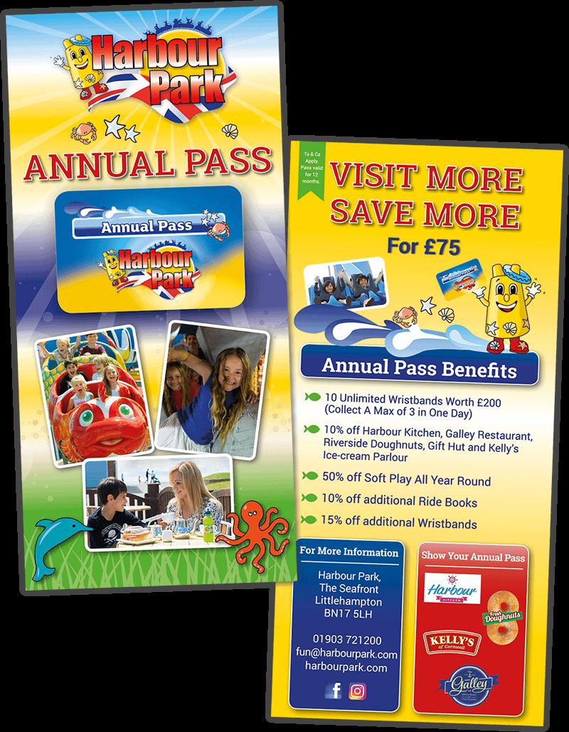 Annual pass design for Harbour Park
