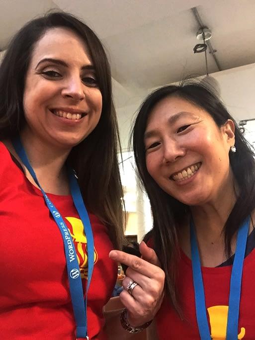 Meg and Rachael at WordCamp London