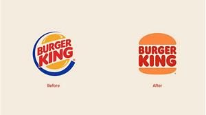 Burger King brand logo redesigns