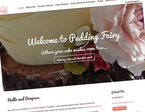 Pudding Fairy website redesign